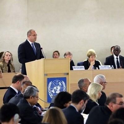 Държавният ни глава е в Швейцария за участието си в 41-ата сесия на Съвета на ООН по правата на човека. Снимка: прессекретариат на президента