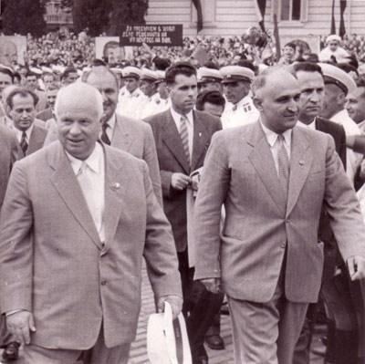 Никита Сергеевич Хрушчов на посещение в България