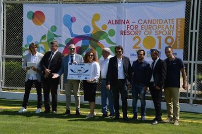 """Гостите се запознаха със сериозната спортна инфраструктура на """"Албена"""". СНИМКА: Тодор Шабански"""