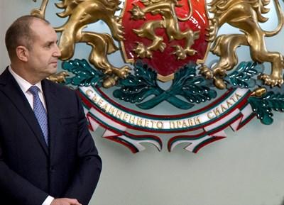 Президентът Румен Радев в Гербовата зала.
