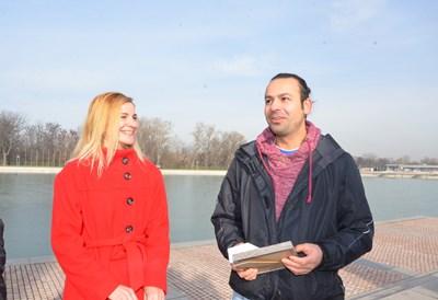 Антоанета Зидарова и Борислав Борисов се притекли на помощ на давещите се майка и син, който влезли в канала да вадят лабрадора си.