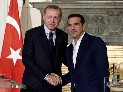 Реджеп Тайип Ердоган и Алексис Ципрас Снимка: Ройтерс