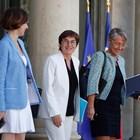 Три от министърките в новия френски кабинет, в който преобладават жените.