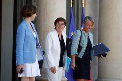 Три от министърките в новия френски кабинет, в който преобладават жените. СНИМКА: РОЙТЕРС