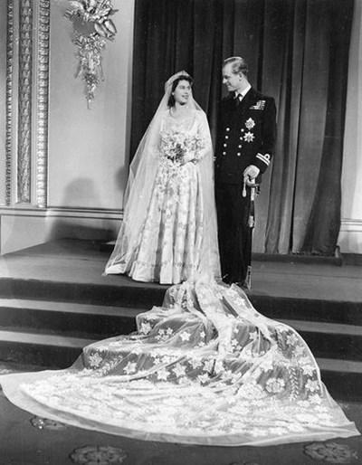 Пищната сватба на Елизабет Втора с принц Филип през 1947 г.