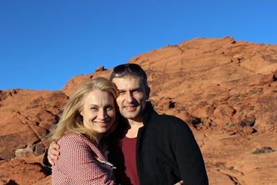 Актьорите са в местността Ред Рокс край Лас Вегас. СНИМКА: Личен архив