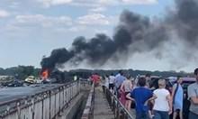 """Издирват шофьора на катастрофиралия тир на """"Тракия"""""""