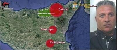 Общините, където била осъществена измамата и един от арестуваните мафиотски босове Аурелио Фаранда СНИМКА Финансова гвардия