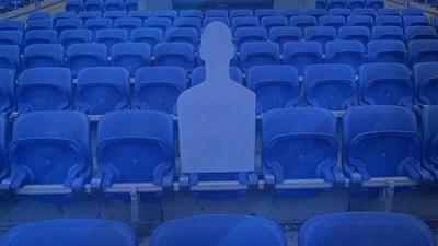 """Нова инициатива - снимки на """"сини"""" фенове на стадиона срещу виртуален билет за 30 лв."""
