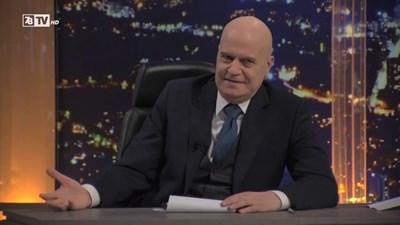 Слави Трифонов в студиото на телевизията си 7/8 СНИМКА: Кадър: тв 7/8
