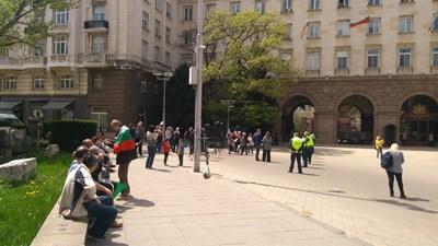 Протестът на Дионисий СНИМКА: Митьо Маринов