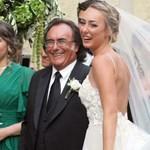 Ал Бано с дъщеря си Кристел на сватбата й
