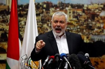"""Върховният лидер на """"Хамас"""" Исмаил Хания СНИМКА: Ройтерс"""
