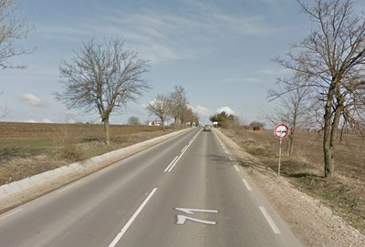 Инцидентът е станал в района на село Карапелит  СНИМКА: Гугъл стрийт вю