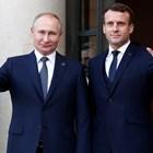 Путин с френския президент Макрон Снимка: Ройтерс