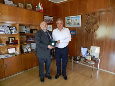 Кметът на Гоце Делчев Владимир Москов прие македонския посланик Марян Гьорчев.