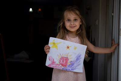 Дете от Тел Авив е нарисувало коронавируса. СНИМКА: РОЙТЕРС
