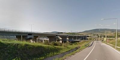 """Пътен възел """"Даскалово"""" Снимка: Google street view"""