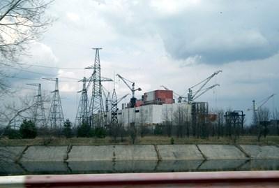 Така изглеждаше чернобилската АЕЦ 20 години след тежкия инцидент в атомната централа. СНИМКА: ПИЕР ПЕТРОВ