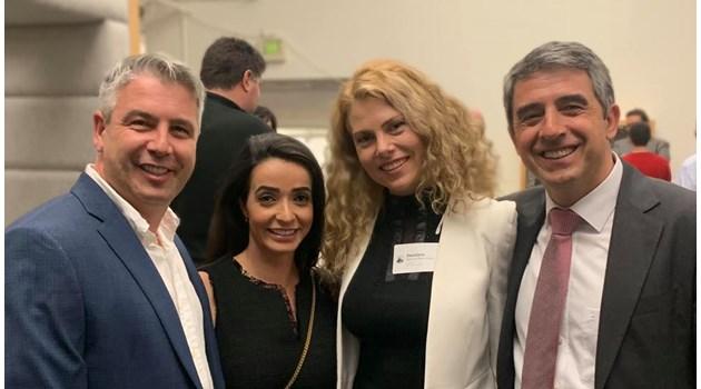 Росен Плевнелиев и Деси Банова на бизнес среща с най-успелите българи в САЩ
