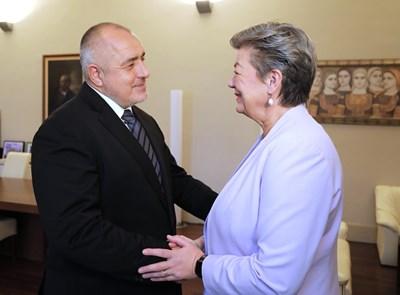 Бойко Борисов и Илва Йохансон СНИМКИ: Министерски съвет