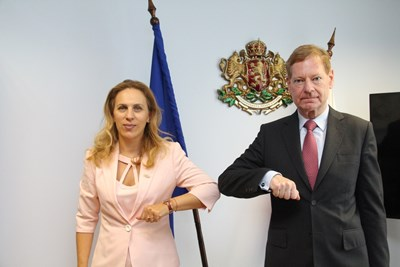 Марияна Николова и Торстен Гайслер СНИМКА: Министерство на туризма