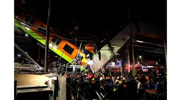 Надлез на метрото се срути в Мексико - 15 загинали и 70 ранени (Снимки, видео, на живо)