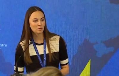 Ева Майдел откри срещата. Кадър: Канал 3