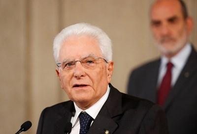 Президентът на Италия Серджо Матарела СНИМКА: РОЙТЕРС