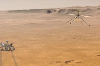 """Малкият хеликоптер """"Инджинюъти"""" на НАСА летя за трети път на Марс в неделя Снимка: НАСА"""