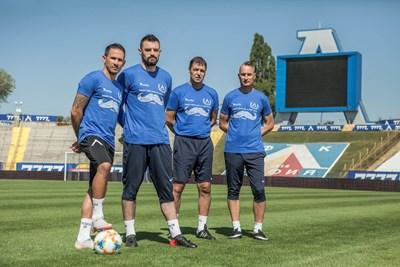 Живко Миланов, Милан Миятович, Петър Хубчев и Георги Донков са лица на кампанията срещу рака на простатата.