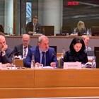 """Банов представи позицията на България в част """"Култура и аудиовизия"""" на редовното заседание на Съвета на ЕС по образование, младеж, култура и спорт. Снимка министерството на културата"""