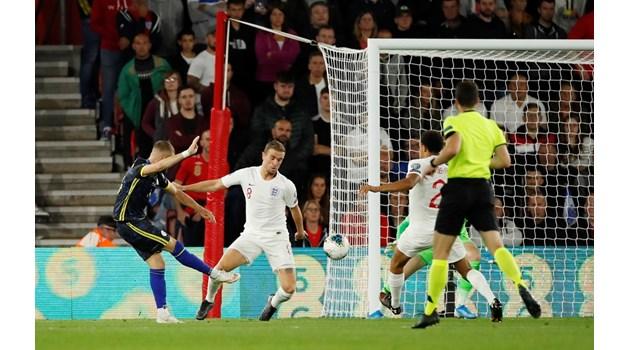 За 54 минути Косово вкара на Англия повече, отколкото България за 57 г.
