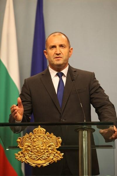 Президентът Румен Радев направи обръщение към нацията по повод старта на новия политически сезон. Снимка РУМЯНА ТОНЕВА