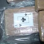 Това е един от пакетите, заловени при акцията на полицията в неделя.