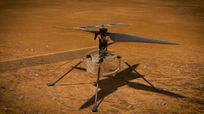 """Мини-хеликоптерът """"Инджинюъти"""" успешно извърши седми полет над повърхността на Червената планета"""