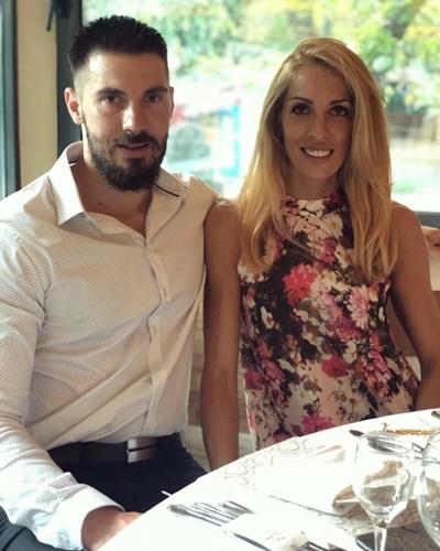 Венислав и Цветомира по време на сватбата на волейболния ни капитан Виктор Йосифов във Варна.