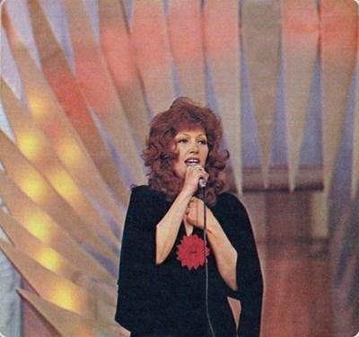 """Ала Пугачова по време на изпълнението си на """"Златният Орфей"""""""