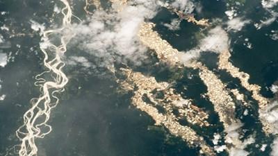 Перу, заснета от Космоса Снимка: НАСА