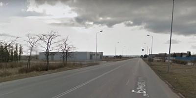 """Инцидентът е станал на улица """"Банско шосе"""" в Сливен  СНИМКА: Гугъл стрийт вю"""