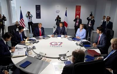 Лидерите на Г-7 обсъдиха голям кръг въпроси по време на тридневната си среща. СНИМКА: РОЙТЕРС