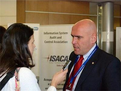 Шефът на сектора за борба с компютърните престъпления Явор Колев СНИМКА: МВР
