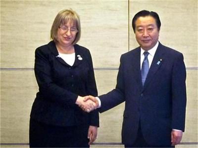 Срещата на Цецка Цачева и японския премиер Йошихико Нода в Токио