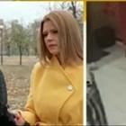 Жената скри лицето си от страх.   СНИМКА: НОВА ТВ
