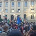 Кадър от протестите: Цветелина Стефанова