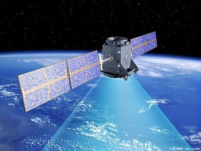 """Художествена илюстрация показва първия европейски навигационен сателит """"Галилео"""". СНИМКА: РОЙТЕРС"""