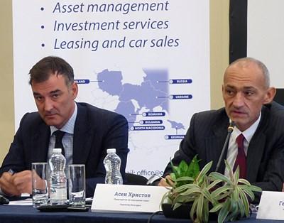 """Кирил Бошов и Асен Христов (вдясно) запазват мажоритарния си дял в """"Еврохолд"""" и след увеличението на капитала."""