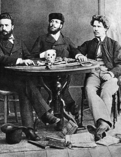 Христо Ботев, Никола Славков и Иван Драсов, септември 1875 г., Букурещ