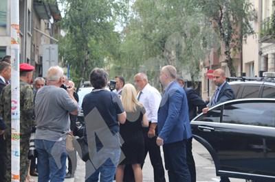 Премиерът Бойко Борисов пристигна в Благоевград  СНИМКИ: Авторката СНИМКА: 24 часа
