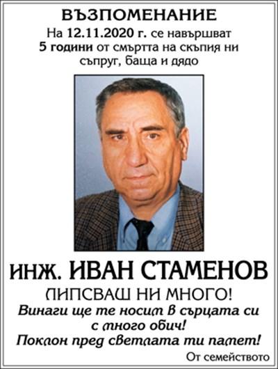 инж. Иван Стаменов